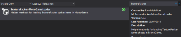 Windows-MonoGame-Loader-Nuget-Search