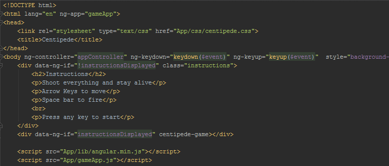 html код игры